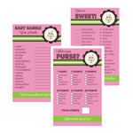 Baby Shower Games (Set of 10) - Pink Owl