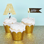 Metallic Silver Foil Cupcake Wrappers (Set of 12)