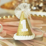 Glitter 1st Birthday Party Hats