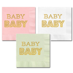 Metallic Gold BABY Napkins (set of 25)