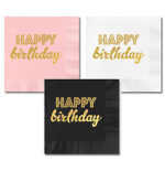 Metallic Gold BIRTHDAY Napkins (set of 25)
