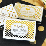 Metallic Foil Personalized Match Boxes (set of 50)
