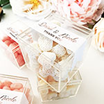 Personalized Acrylic Favor Boxes - Metallic Foil