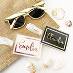 Personalized Metallic Foil Luggage Tags