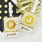 Custom Metallic Foil Luggage Tags (set of 4)