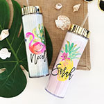Personalized Tropical Beach Tall Tumbler