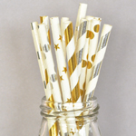 Metallic Foil Straws (set of 25)