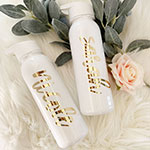 Personalized Sports Bottles with Gold Text