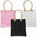 Blank Canvas Tote Bags w/Gold Handles