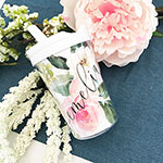 Personalized Floral Sippy Cups