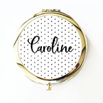 Personalized Polka Dot Compacts