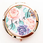 Personalized Succulent Compacts
