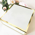 Blank White & Gold Gift Boxes