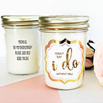 Wedding Mason Jar Candle - Gold Foil