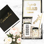 Personalized Black & White Graduation Gift Boxes