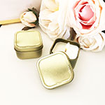Blank Gold Square Candle Tins