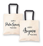 Personalized State Canvas Welcome Tote Bag