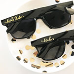Bridal Party Black Sunglasses