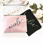 Personalized Custom Name Canvas Cosmetic Bag