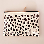 Personalized Cheetah Print Cosmetic Bag