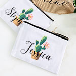 Personalized Fiesta Canvas Cosmetic Bag