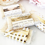 Personalized Mini Soap Favors (set of 5) - Metallic Foil