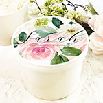 Personalized Round Gift Box - Spring Floral