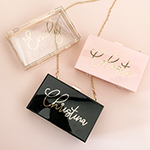 Personalized Acrylic Purse