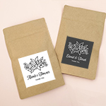 Personalized Floral Silhouette Paper Bags