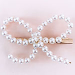Faux Pearl Bow Hairpin