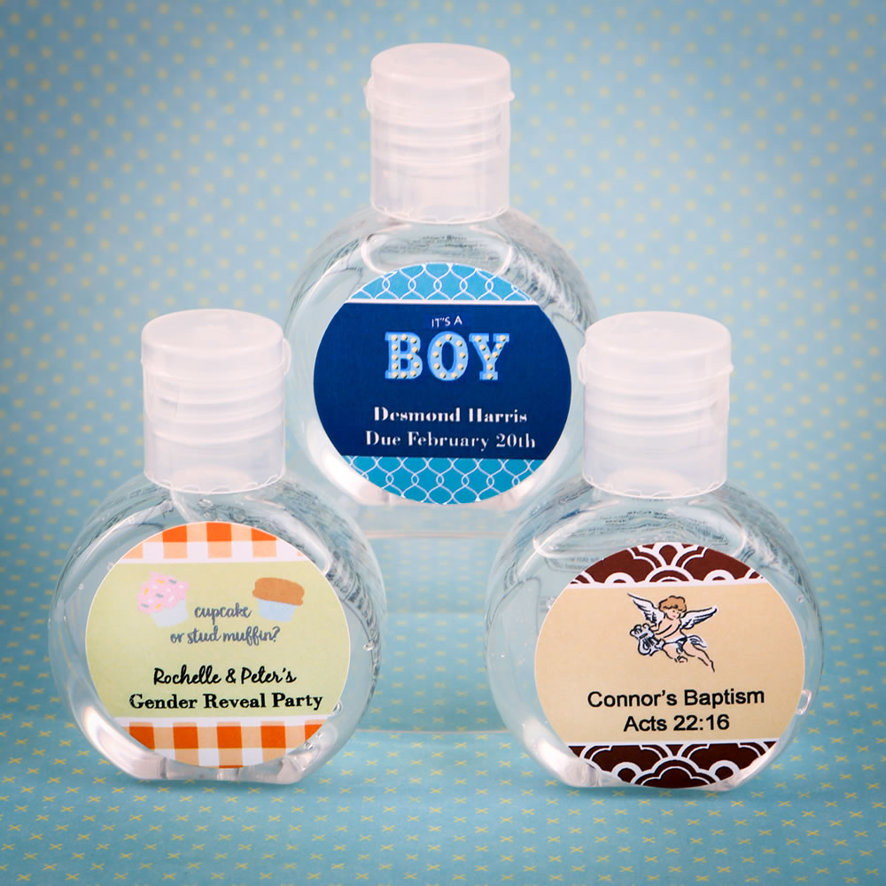 Personalized Expressions Hand Sanitizer Baby Shower Favor