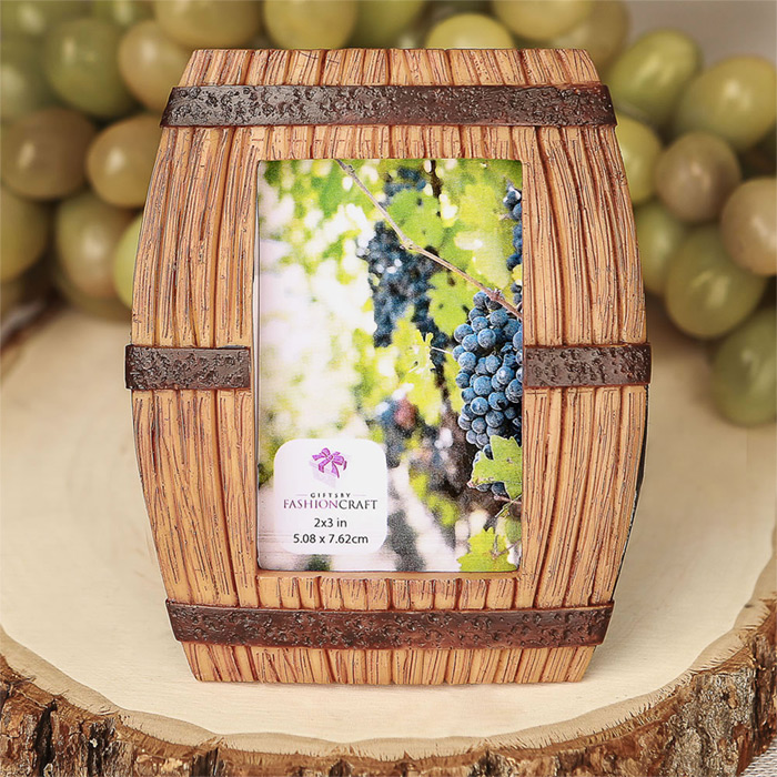 Wine Barrel Themed Place Card Frame Picture Frame Famous Favors