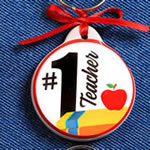 Teacher Key Chain - 2 Assorted Designs in a 12 Piece Display