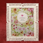 Magnificent Ivory with Rose Gold Lattice 8 x 10 Picture Frame