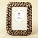 Double Braided Caramel Color 4 x 6 Frame