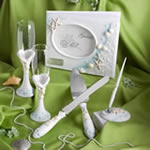 Finishing Touches Collection Engraved Beach Themed Wedding Day Accessories