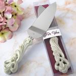 Vintage Double Heart Design Cake Server