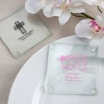 Personalized Glass Coasters Baby Shower Favors