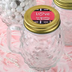 Personalized Expressions Mini Pineapple Glass Mason Jar - Wedding