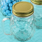 Perfectly Plain Collection Mini Pineapple Glass Mason Jar