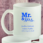 Personalized 11 oz Frosted Glass Coffee Mug Anniversary Party Favors