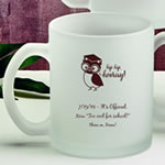 Personalized 11 oz Frosted Glass Coffee Mug Party Favors