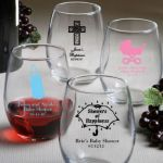 Personalized Stemless Wine Glasses Baby Shower Favors