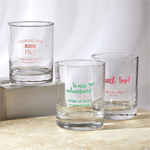 Screen Printed Personalized 13 oz. Rocks Glass Party Favors