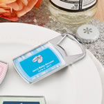 Personalized Epoxy Dome Chrome Metal Bottle Opener Baby Shower Favors