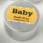Personalized Expressions Collection Brushed Silver Metal Mint Tin Baby Shower Favors