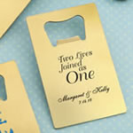 Gold Personalized Credit Card Stainless Steel Bottle Opener
