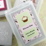 Personalized Expressions Playing Cards with Designer Top Baby Shower Favors