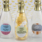 Personalized Acrylic Champagne Bottle with Gold Foil Top Baby Shower Favors