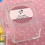 Personalized Expressions Square Acrylic Box Baby Shower Favor